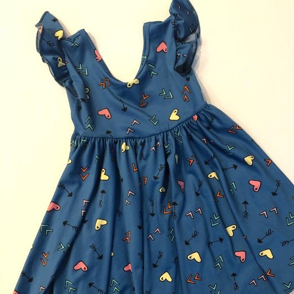 Dot Dot Smile Ballarina Dress Size 3//4 Pink w// hearts and arrows